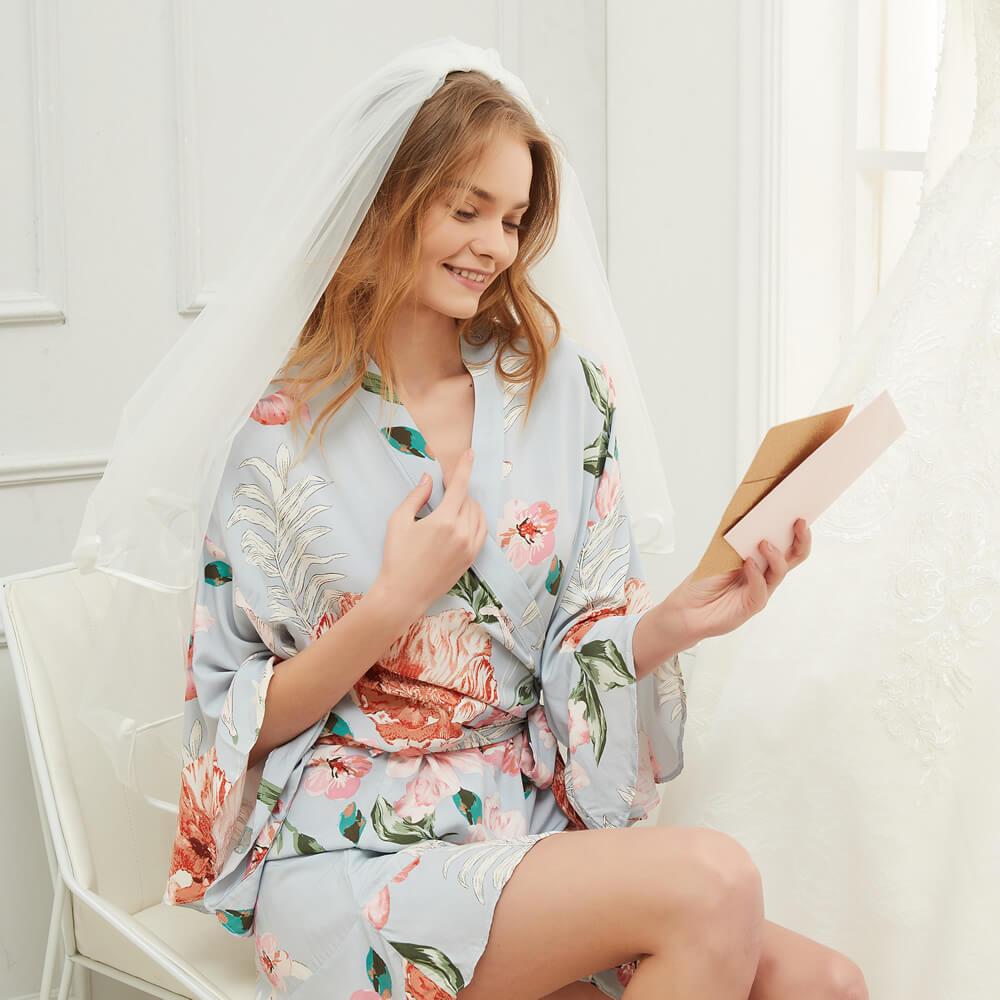 Ruffle Bride Robe
