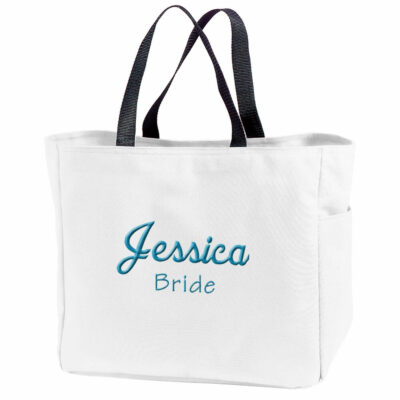 Personalized Bride Solid Tote Bag with Name