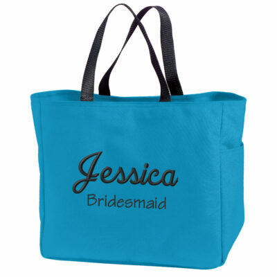 Personalized Bachelorette Party Solid Tote Bag with Name
