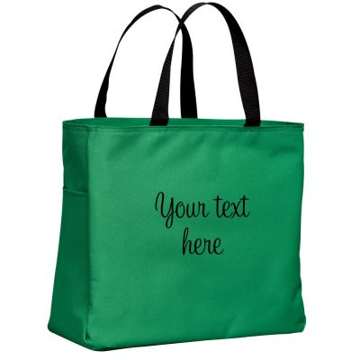 Personalized Solid Tote Bag with Name & Wedding Date