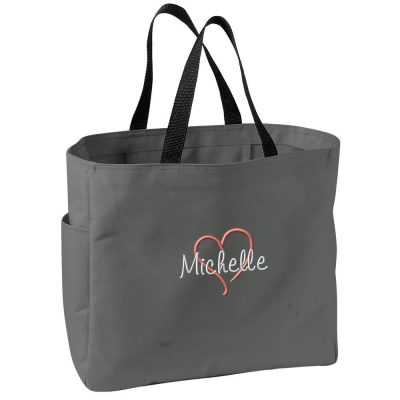 Personalized Bride Tote Bag with Heart