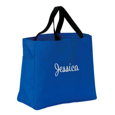 Personalized Solid Tote Bag with Name