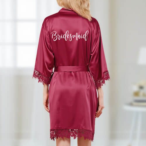 Satin Bridal Party Robe - Featured