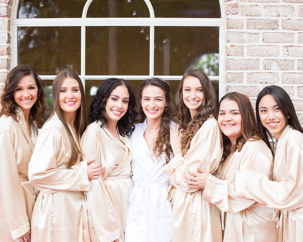 Champagne Satin Bridesmaid Robes
