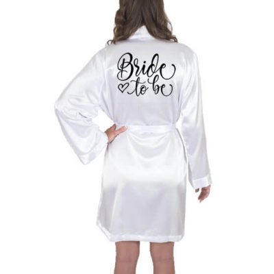 """Bride to be"" Satin Robe with Heart"