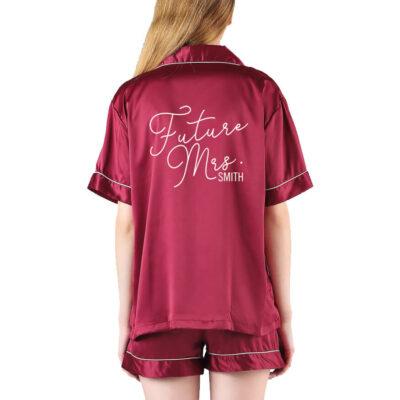 """Future Mrs."" Button-up Pajama Set"