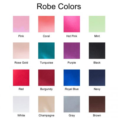Satin Robe Color Chart
