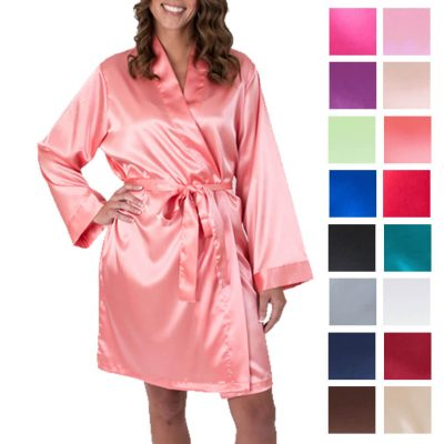 Satin Bridal Robe - Blank