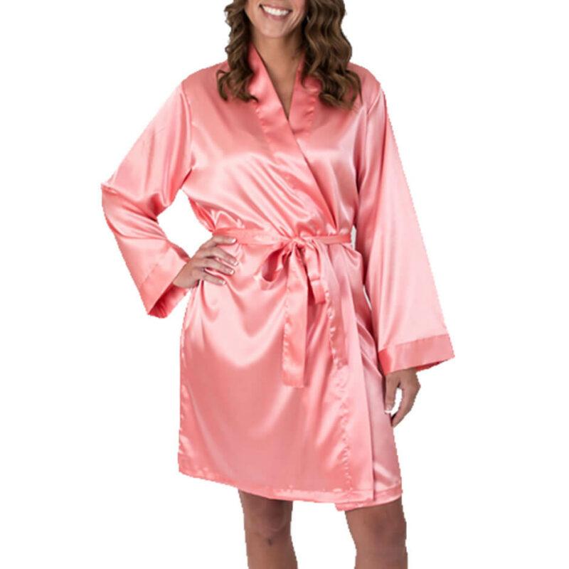 Satin Bridal Robe - Blank