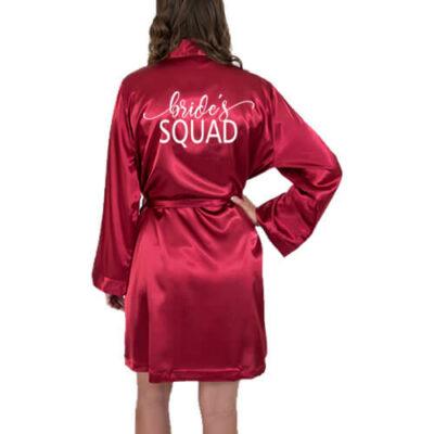 """Bride's Squad"" Satin Robe"