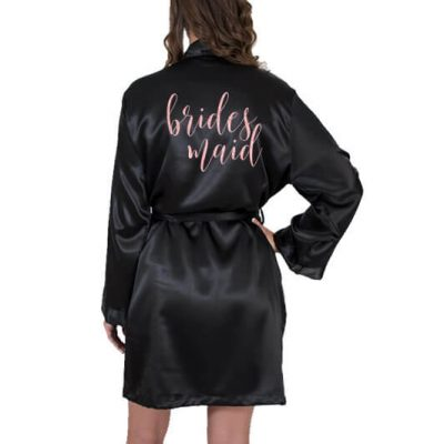 Glitter Satin Bridesmaid Robe - Swirl