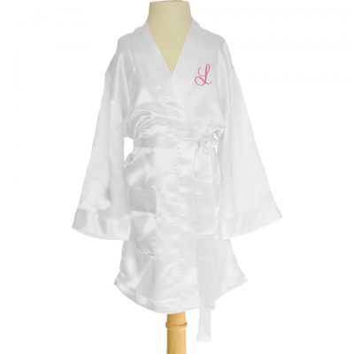 Personalized Kid's Satin Robe with Initial