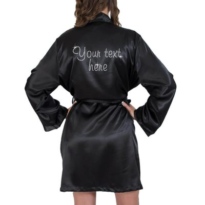Create Your Own Rhinestone Satin Robe