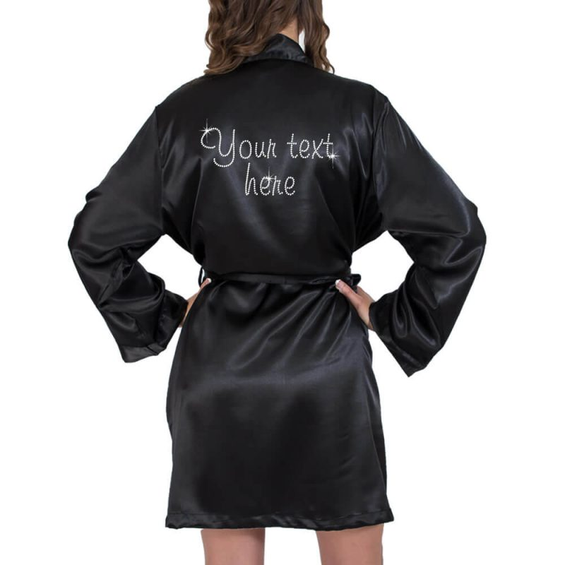 Create Your Own Rhinestone Satin Robe