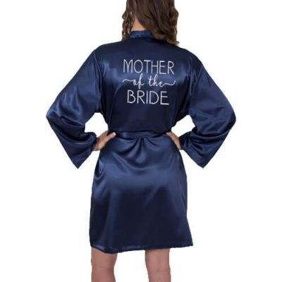 Satin Mother of the Bride/Groom Robe with Swashes