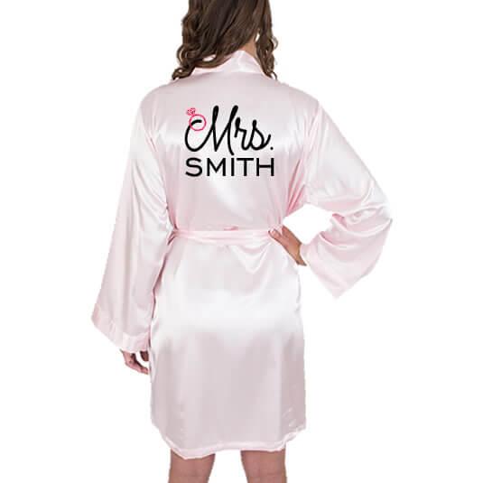 """Mrs."" Satin Robe"