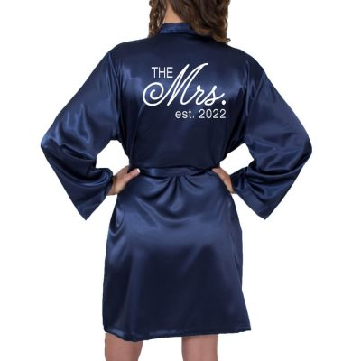 """The Mrs."" Satin Robe"