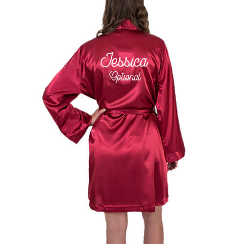 Satin Robe with Name on Back