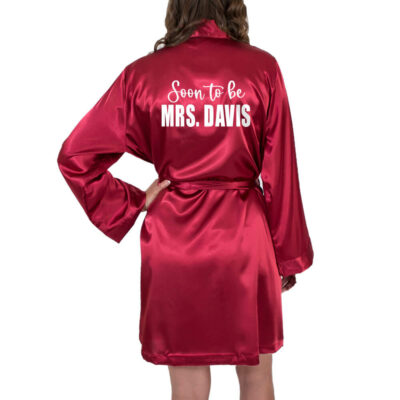 """Soon to be Mrs."" Satin Robe"