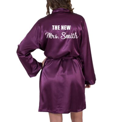 """The New Mrs."" Satin Robe"