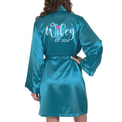 """Wifey"" Satin Robe"