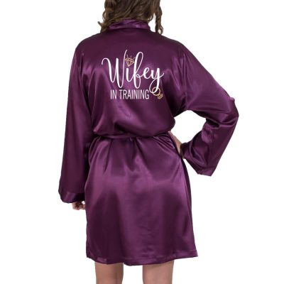 """Wifey in Training"" Satin Robe"
