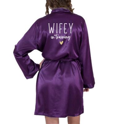 """Wifey in Training"" Satin Robe"