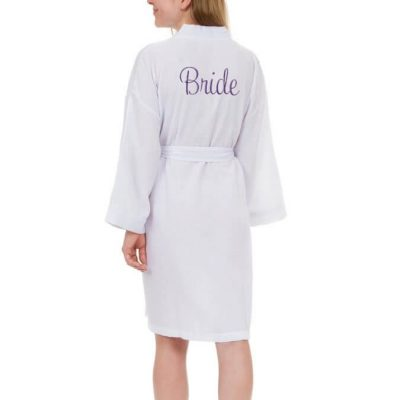 Personalized Seersucker Bride Robe