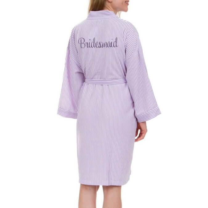 Robe: Personalized Seersucker Bridesmaid Robe
