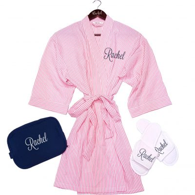 Seersucker Robe Set with Name