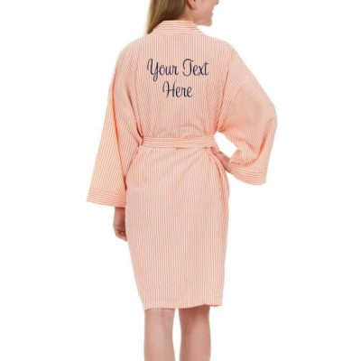 Create Your Own Seersucker Robe (Back)
