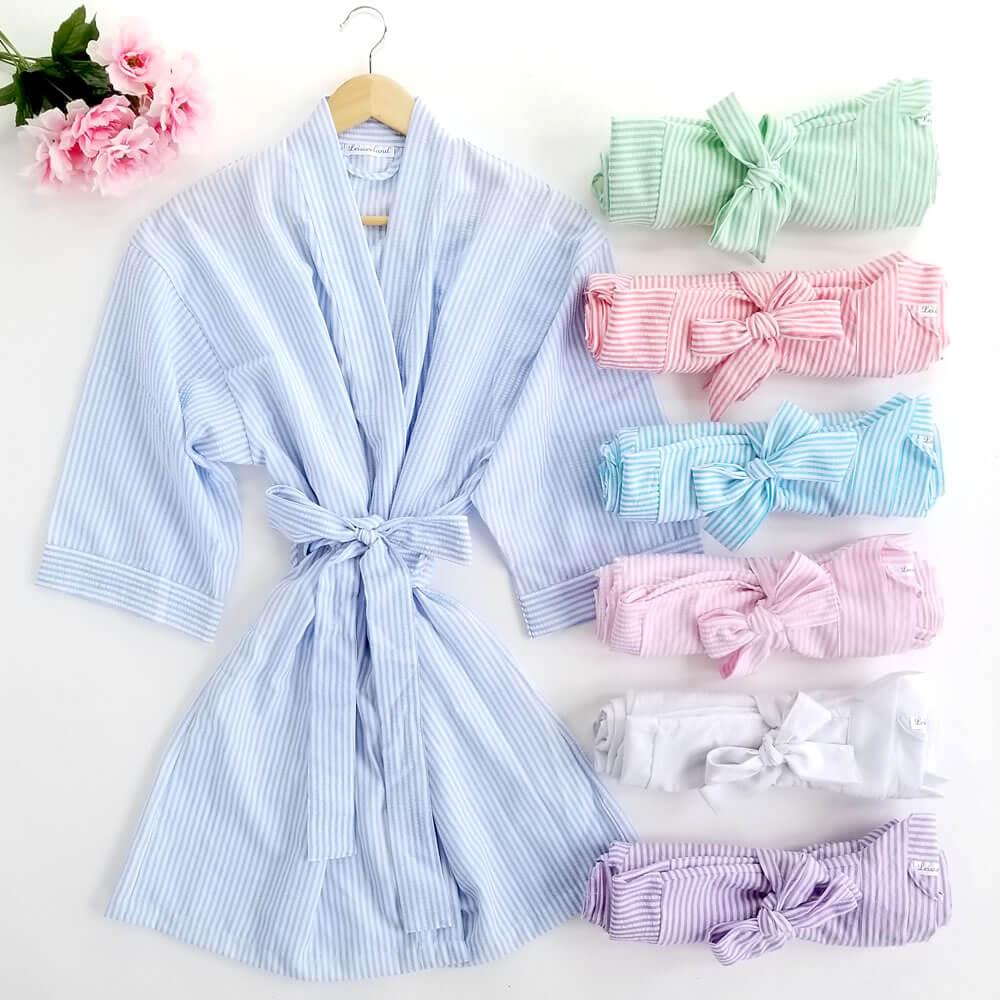 Custom Seersucker Robes