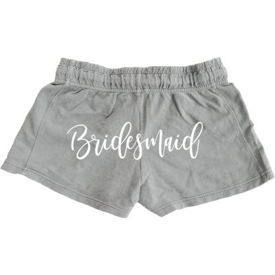 Personalized Bridesmaid Shorts - Back