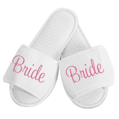 Personalized Bride Slippers - Embroidered