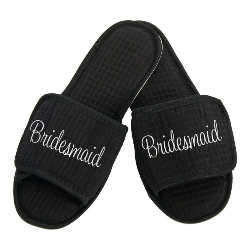 Personalized Bridesmaid Slippers - Embroidered