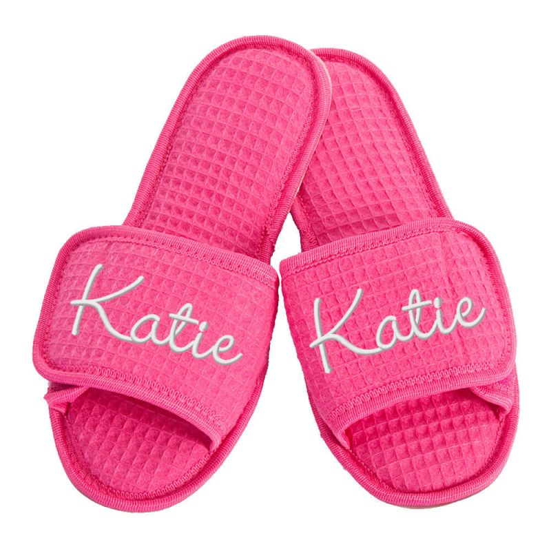 Custom Slippers with Embroidered Name