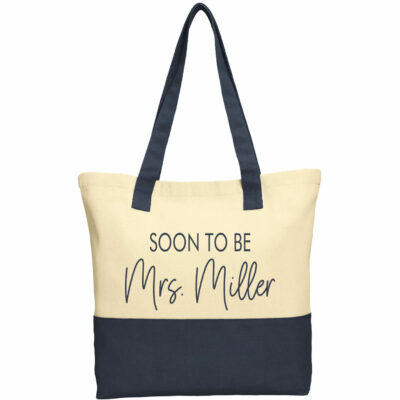 """Soon to be Mrs."" 2-Tone Tote Bag"