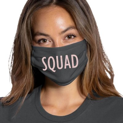 """SQUAD"" Bridal Party Face Mask"