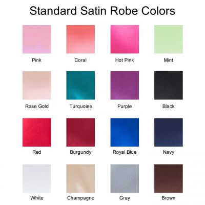 Standard Satin Robe Colors