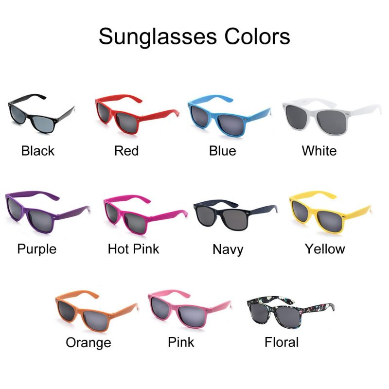 Sunglasses Color Chart