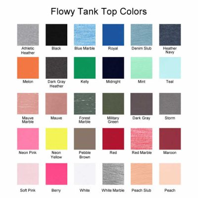 Flowy Tank Top Colors