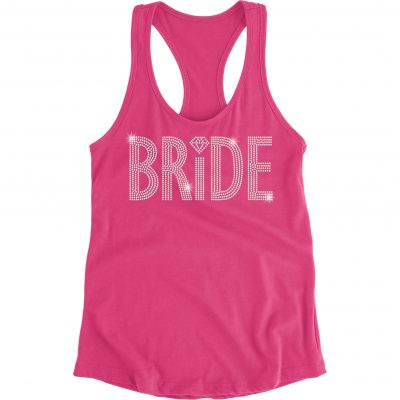 Rhinestone Bride Flowy Tank Top - Block