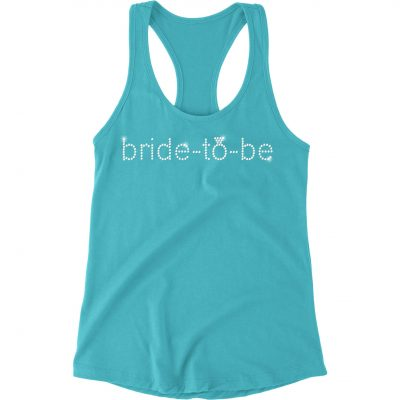 Rhinestone Bride-to-be Flowy Tank Top