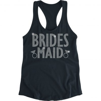 """Bride's Sister"" Flowy Rhinestone Tank Top"