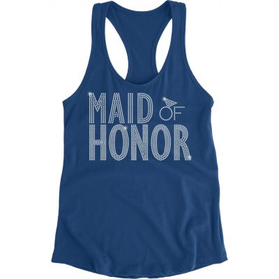 Rhinestone Maid/Matron of Honor Tank Top - Block