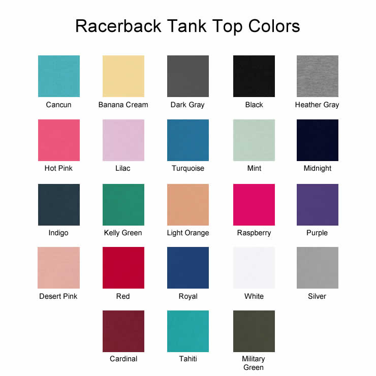 Racerback Tank Top Colors