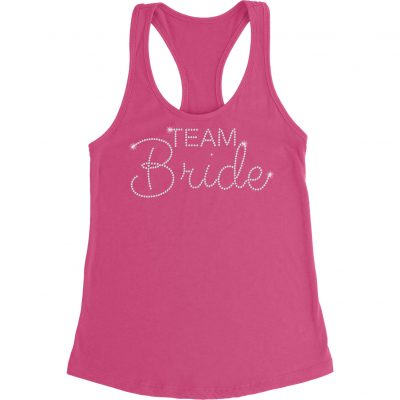"Rhinestone ""Team Bride"" Tank Top"