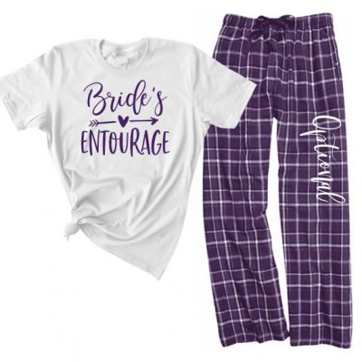 """Bride's Entourage"" Flannel Pants Set"