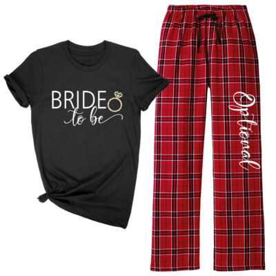 Bride-to-be Flannel Pants Set