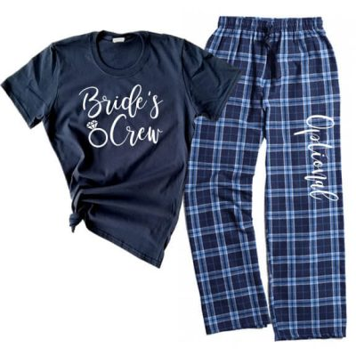 """Bride's Crew"" Flannel Pants Set"